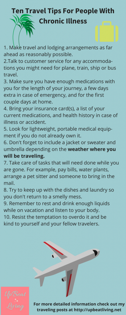 Ten Travel Tips For People With Chronic Illness