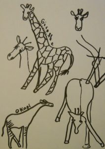 Drawing Giraffes by Kathy Forsyth
