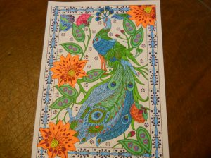 Relieve Stress By Coloring Colored by Kathy Forsyth