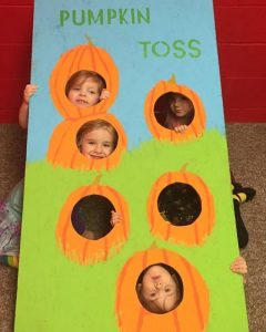 Pumpkin Toss Game Board created by Kathy and Joe Forsyth