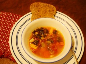 Sweet Potato and Kale Minestrone Soup