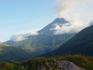 The tallest volcano in Ecuador.
