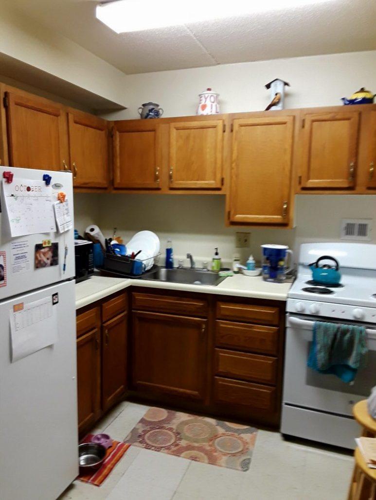 My perfect-sized kitchen.