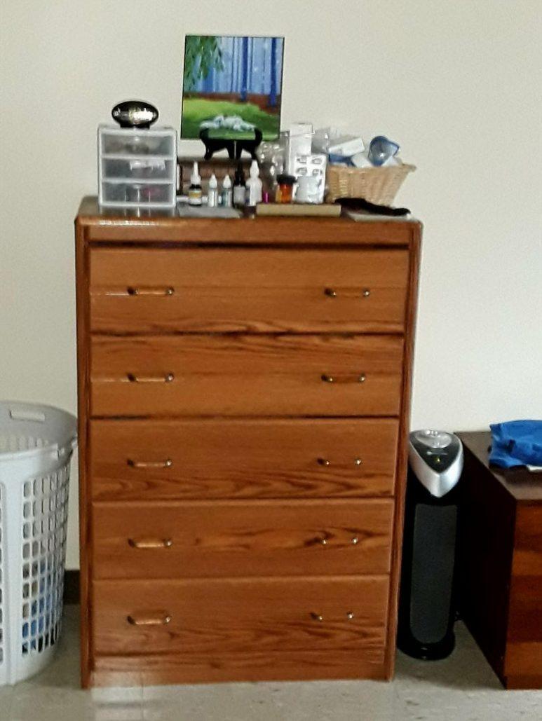 My bedroom dresser.