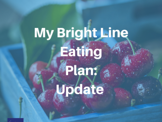 My Bright Line Eating Plan Update