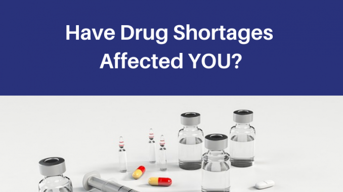 Have Drug Shortages Affected You?